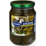 Vegetables Premiya grape leaves canned for dolma 660g glass jar Armenia