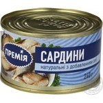 Fish sardines Premiya with addition of butter 240g