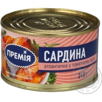 Сардина Премія атлантическая в томат.соусе №5 ж/б 240г