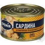 Fish sardines Premiya in oil 240g