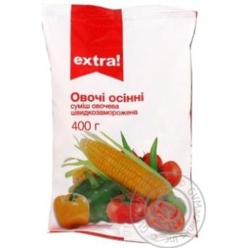 Смесь овощная Extra! Осенние овощи быстрозаморож 400г