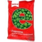 Горошек зеленый Extra! быстрозамороженный 900г