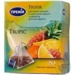 Чай черный Премія Тропик с фруктами байховый 20*1,8г/уп