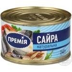 Fish saury Premiya №5 canned 240g can