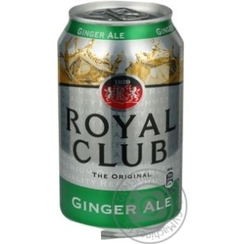 Напиток Royal Club Имбирный эль б/алк газ 0,33л