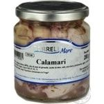 Seafood squid Borrelli canned 314ml glass jar