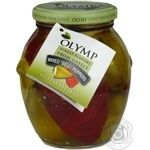 Vegetables pepper Olymp with cheese canned 370ml glass jar