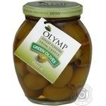Оливки Olymp греческие зеленые без косточки 370мл