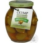 оливка Олимп зеленый консервированная 370мл стеклянная банка
