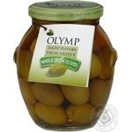 оливка Олимп зеленый с косточкой 360мл стеклянная банка