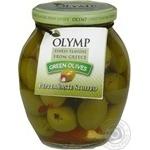 Оливки Olymp зеленые фаршированные перцем б/к 370мл