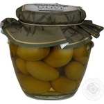 оливка Премия селект зеленый консервированная 550г стеклянная банка