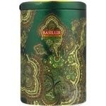 Tea Basilur Moroccan mint green loose 100g can