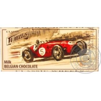 Шоколад Wheels Classic молочный 400г