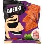 Грінки житні зі смаком часнику із зеленню Snekkin 35г