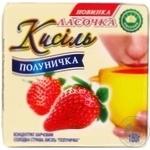 Kissel Lasochka strawberries with cream for desserts 180g Ukraine