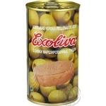 Оливки Exoliva зеленые фаршированные тунцом 370мл