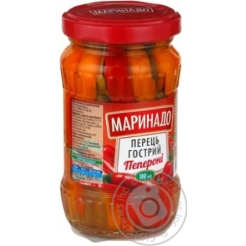 Vegetables pepper Marinado Paperoni canned 160g glass jar