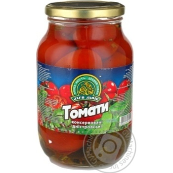 Vegetables tomato Dary laniv with greens canned 1000g
