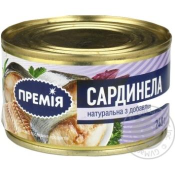 Сардинелла Премія натуральная с добав.масла №5 ж/б 240г
