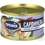 Fish sardinella Premiya with addition of butter 240g can