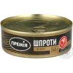 Sprats Premiya in oil 240g can