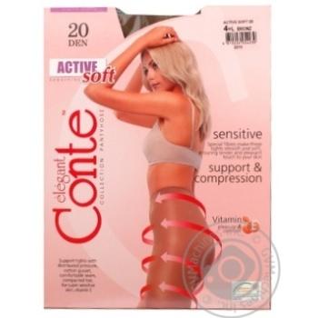 Колготки жіночі Active Soft 20 р 4 Bronz
