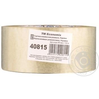 Стрічка клейка пакувальна прозора Economix 48мм*100м