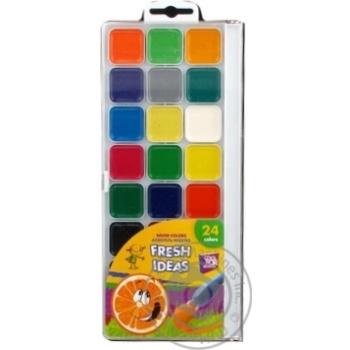 Акварель медова Cool for school Fresh Idea 24 кольорів б/пензлика пластик одношарові CF60136