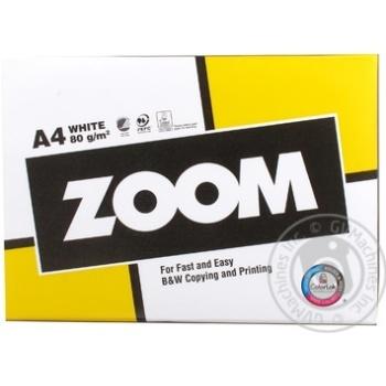 Папір Zoom А4 500аркуш 80г/м2 х5 - купити, ціни на МегаМаркет - фото 1