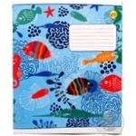 Tetrada Diagonal Lined Notebook with Additional Lines 12 Sheets
