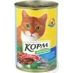 Корм Повна чаша консервована для котів 415г залізна банка