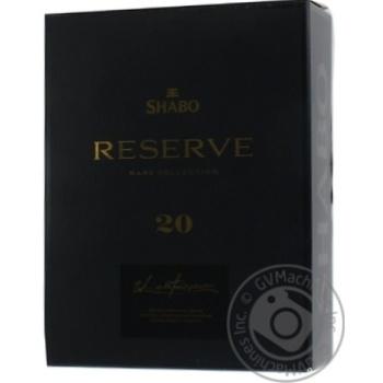 Бренді Шабо Резерв 20 років в сувенірній упаковці 0,7л