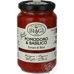Cоус Biagi томатный с базиликом organic 350г