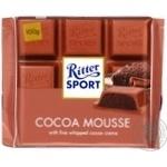 Шоколад молочный Ritter Sport с начинкой какао-мусс 100г