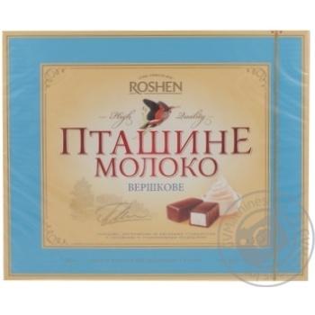 Конфеты Roshen Птичье молоко сливочное глазированные молочно-шоколадной глазурью 200г Украина