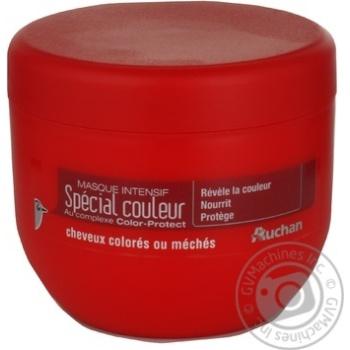 Маска Auchan Интенсивная для окрашенных и мелированных волос 300мл Франция