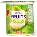 Йогурт Ашан фруктовый с кусочками фруктов 125г