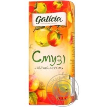 Смузі Galicia Яблуко-персик 0,2л - купити, ціни на Novus - фото 1