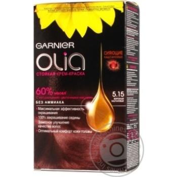 Крем-фарба Olia для волосся 5.15 Морозний каштановий Garnier