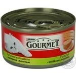 Консерва для котів Gourmet Кролик,Печінка 195г
