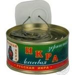 Ікра лососева Російська ікра зерниста солена 120г залізна банка Україна
