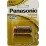 Батарейки Panasonic LR6 Alkaline Power AA 2шт