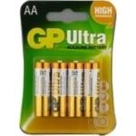 Батарейки GP Ultra Alkaline 1.5V AA 4шт