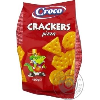 Крекер Croco зі смаком піци 100г