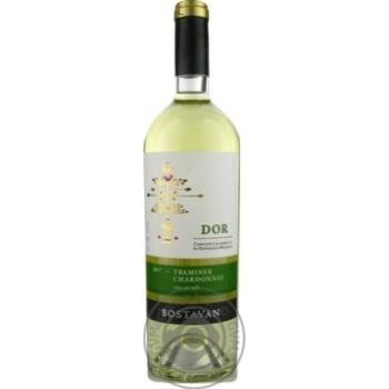 Bostavan Traminer Chardonnay white dry wine 13% 0,75l - buy, prices for Novus - image 1
