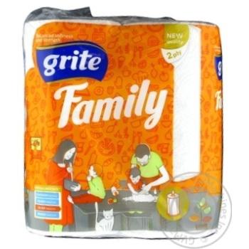 Рушники паперові Grite Family 2рул. - купити, ціни на Novus - фото 1
