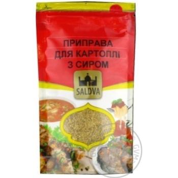 Приправа Saldva для картофеля с сыром 25г - купить, цены на Novus - фото 1