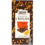 Chocolate black Nestle orange bars 90g