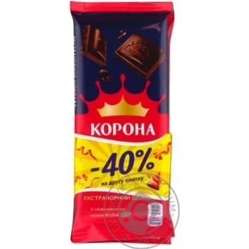 Шоколад Корона экстрачерный 1+1 170г - купить, цены на Novus - фото 4